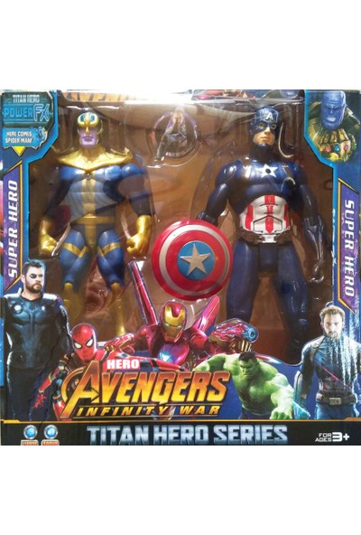 Beyza Toys Thanos Captian Amerika Avengers Süper Hero Figürleri Sesli Işıklı