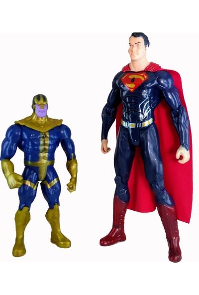 Beyza Toys Thanos Süpermen Avengers Süper Hero Figürleri Sesli Işıklı