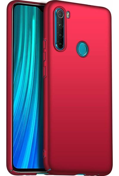 Engo Xiaomi Redmi Note 8 Silikon Arka Kapak Kılıf Kırmızı