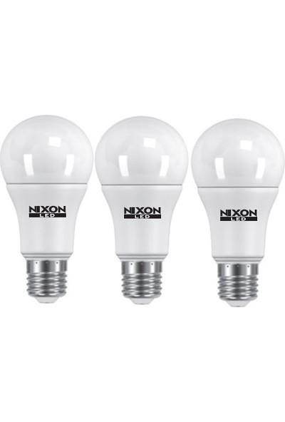 Nixon LED Ampul 3'lü 10 W 6500 K 850 Lm Beyaz