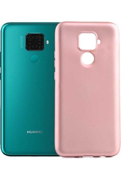 Tekno Grup Huawei Mate 30 Lite Kılıf Mat Premium Silikon Kılıf - Rose + Cam Ekran Koruyucu