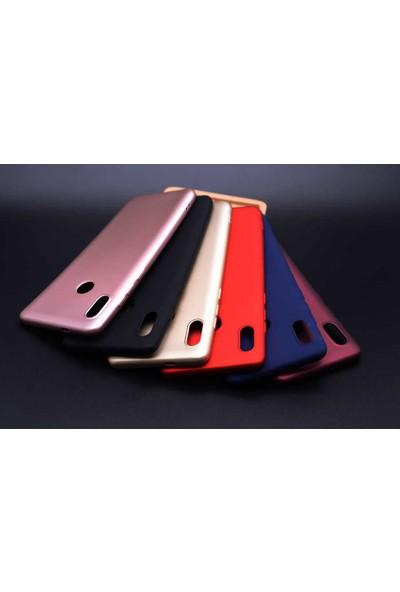 Tekno Grup Meizu Note 8 Kılıf Mat Premium Silikon Kılıf- Lacivert + Cam Ekran Koruyucu