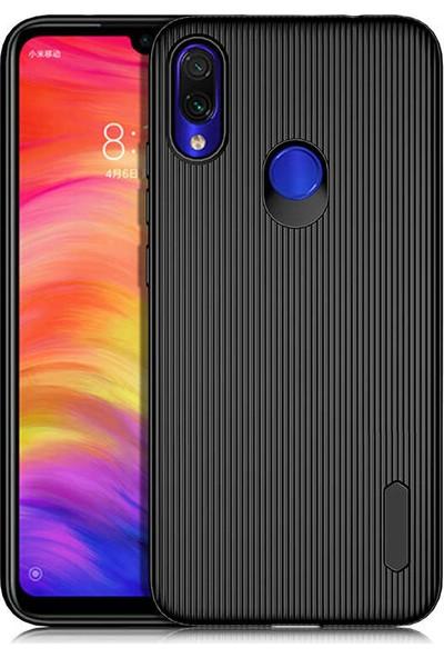 Tekno Grup Xiaomi Redmi Note 7 Kılıf Mat Silikon Çizgili Tio Arka Kapak Silikon - Siyah