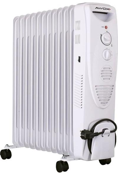 Awox 12 Dilim Beyaz Fanlı Yağlı Radyatör ( Yeni Model )