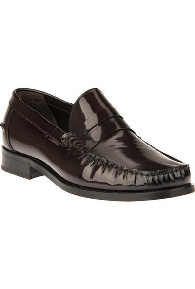 Ziya Erkek Hakiki Deri Ayakkabı 9350 6223 Bordo