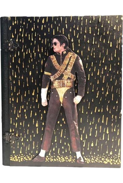 Adazra Design Michael Jackson Dangerous Dünya Turu Konser Kabartma Hediyelik Ahşap Kutu