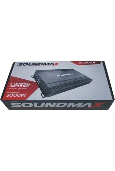 Soundmax SX-2500.4 4 Ch 3000W Oto Anfi