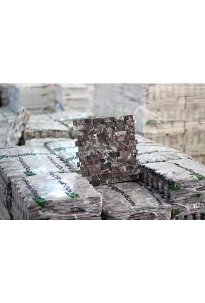 Doğal Dekor 23 x 48 cm Vişne Mermer Traverten Doğal Taş Patlatma Taş Kaplama Duvar Dekorasyonu