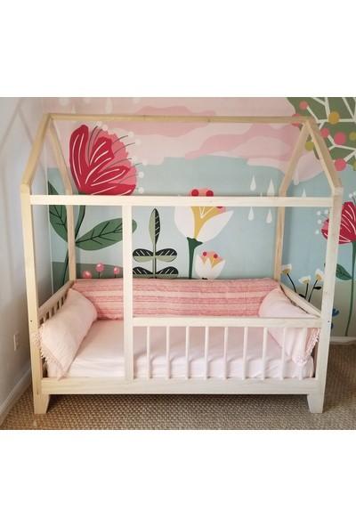 Ürün Şehri Montessori Ahşap Çocuk Yatak Çocuk Evi