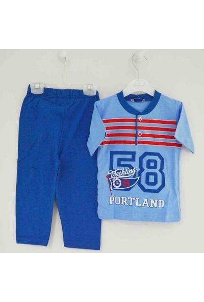 Mini Okyanus 2128 Baskılı Pijama Takımı