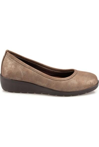 Travel Soft Trv920052P Kum Rengi Kadın Dolgu Topuklu Ayakkabı