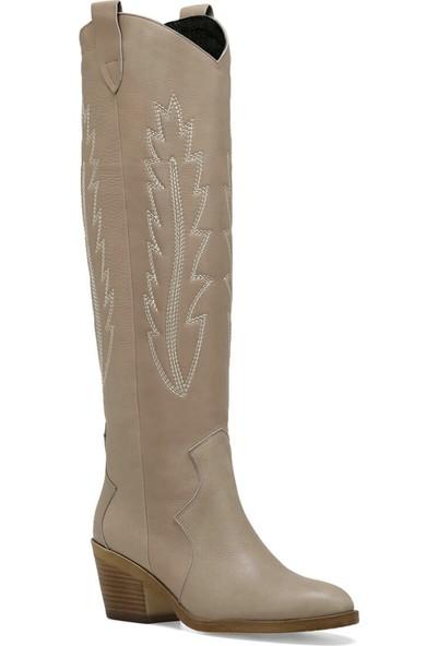 Nine West Gano Bej Kadın Çizme