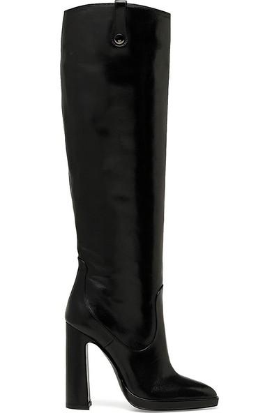 Nine West Jenı Siyah Kadın Topuklu Çizme