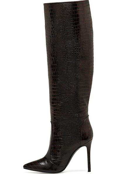 Nine West Tero Kahverengi Kadın Topuklu Çizme