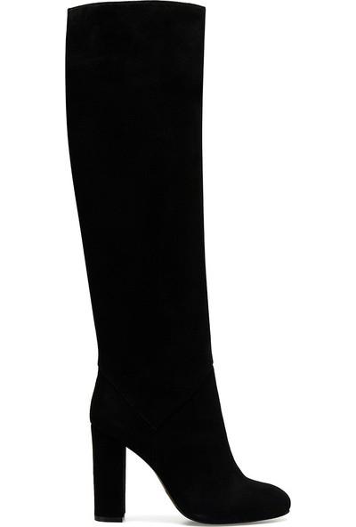 Nine West Xtra Siyah Kadın Topuklu Çizme