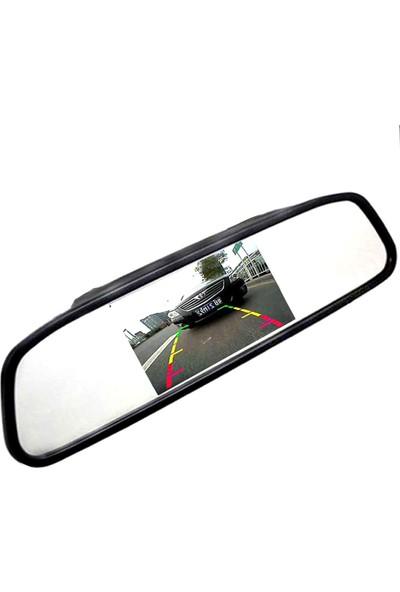 Dikiz Ayna Ekran 5.0 Inch LCD Araç Içi Dikiz Ayna Ekran