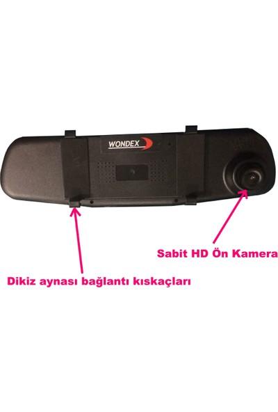 Dikiz Ayna Ekran Kayıt Özellikli Ön Kamera ve 4 LED Geri Görüş Kamerası Hd Eksiksiz Tam Set Geri Vites Kamerası