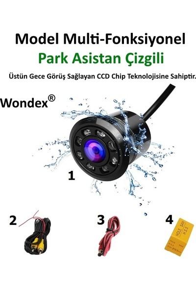 Wondex Hd Multi-Fonksiyonel Gece Görüşlü Araç Geri Görüş Geri Vites Kamerası 8 LED