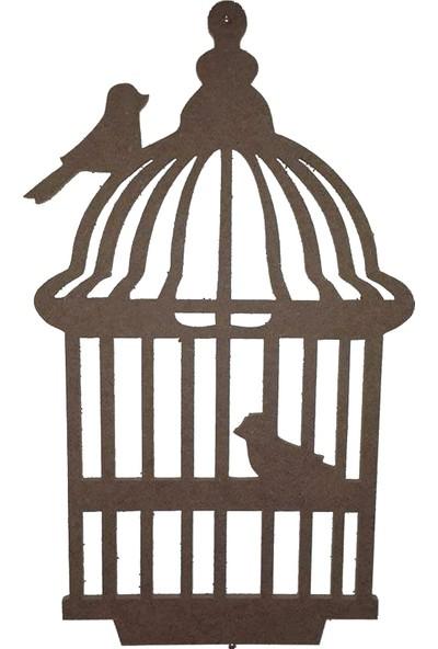 Hobi Ahşap Ahşap Dekoratif Anahtarlık (Kafes Anahtarlık)