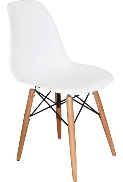 Mezura Eames Sandalye Beyaz