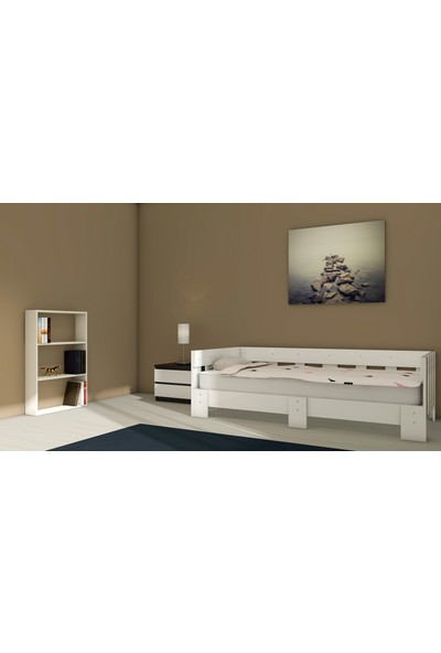 Nevramo Köşk Montessori Karyola Beyaz 90 x 190 cm Yatağa Uyumlu