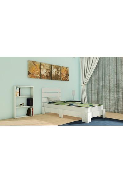 Nevramo Menekşe Montessori Karyola Beyaz 90 x 190 cm Yatağa Uyumlu