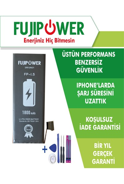 Fujipower Apple iPhone 5 Batarya Pil 1800 mAh