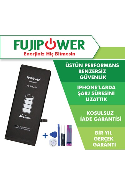 Fujipower Apple iPhone 6s Plus Batarya Pil 3410 mAh