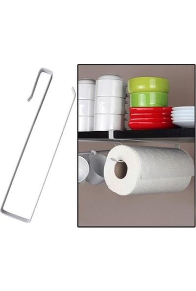 Kağıt Havluluk Havlu Askısı Mutfak Tezgahı Dolabı Raf Altı Kağıt Havlu Askılığı Tutucu Dekoratif