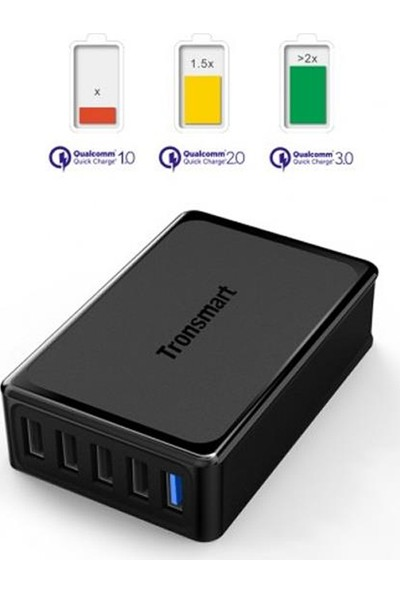 Tronsmart Qualcomm QC 3.0 VoltiQ 5 Port Hızlı Şarj İstasyonu