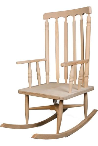 Sallanan Sandalye Ham Boyasız Doğa Kasabası