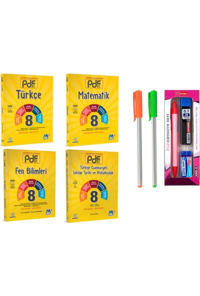 Martı Yayınları 8.Sınıf 4'lü Pdif Konu Anlatımlı Set T-M-F-I