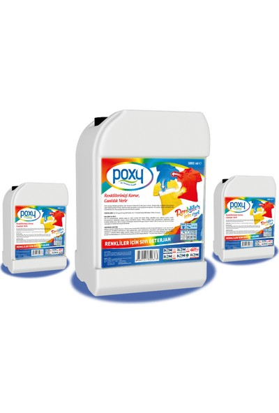 Poxy Renkliler İçin Sıvı Deterjan 5 kg