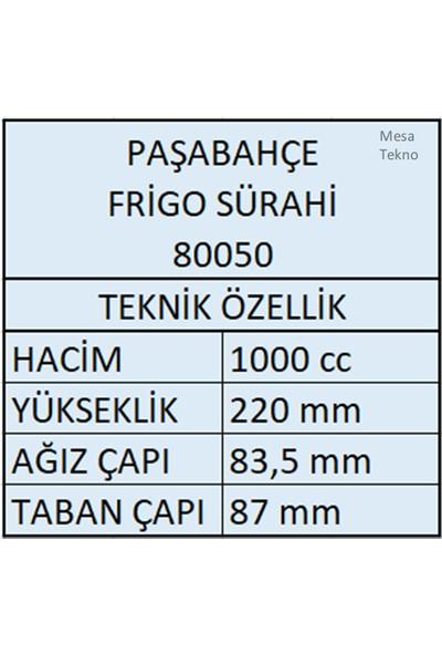 Paşabahçe 80050 Frigo Buzdolabı Sürahisi 1000 ml Beyaz Kapak 6 Adet