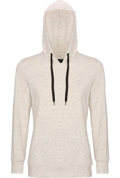 Kinetix Basic Sweat W Gri Melanj Kadın Sweatshirt