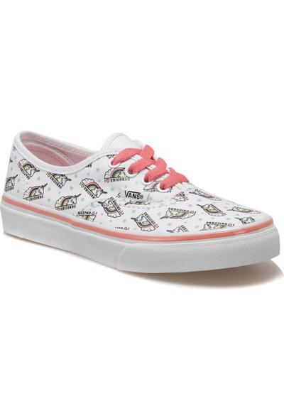 Vans Uy Authentic Beyaz Kız Çocuk Sneaker Ayakkabı