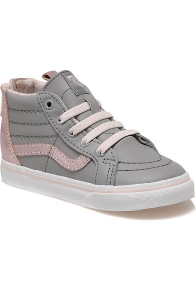 Vans Td Sk8-Hi Zip Metalik Gri Kız Çocuk Sneaker Ayakkabı