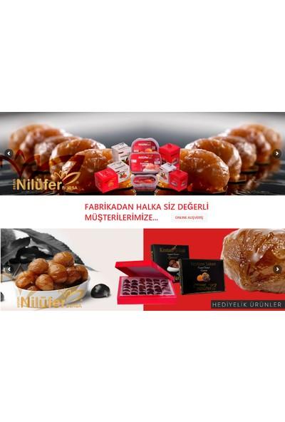 NİLÜFER KESTANE ŞEKERİ (DUBLE) Şerbetli Plastik Kase Net- 940 GRAM
