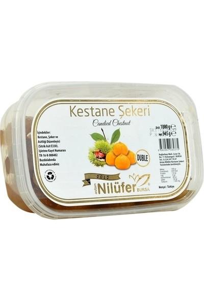 NİLÜFER KESTANE ŞEKERİ GOLD (DUBLE) Şerbetli Plastik Kase - Net 945 gr