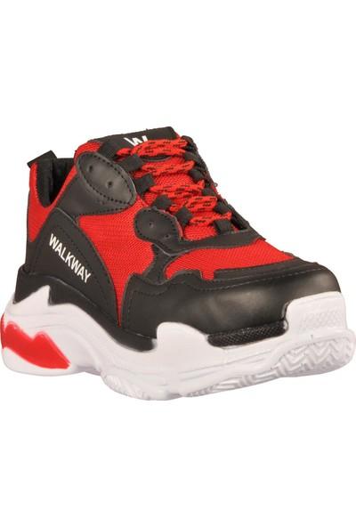 Walkway 199 Siyah-Kırmızı Kadın Spor Ayakkabı