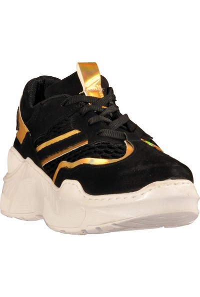 Walkway 103 Siyah-Beyaz Kadın Spor Ayakkabı