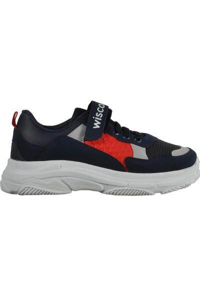 Wisco 019 Lacivert-Kırmızı Çocuk Spor Ayakkabı