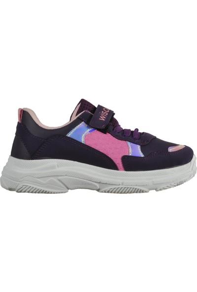 Wisco 019 Mor-Pembe Çocuk Spor Ayakkabı