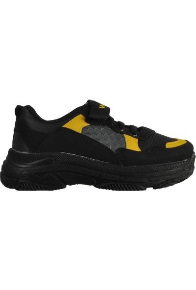 Wisco 019 Siyah-Sarı Çocuk Spor Ayakkabı