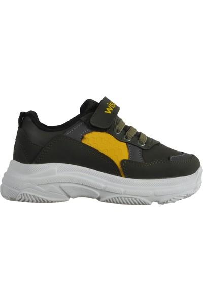 Wisco 019 Haki-Sarı Çocuk Spor Ayakkabı