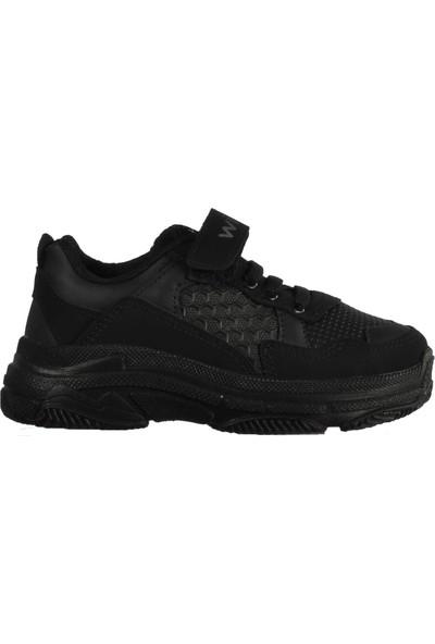 Wisco 019 Siyah Çocuk Spor Ayakkabı
