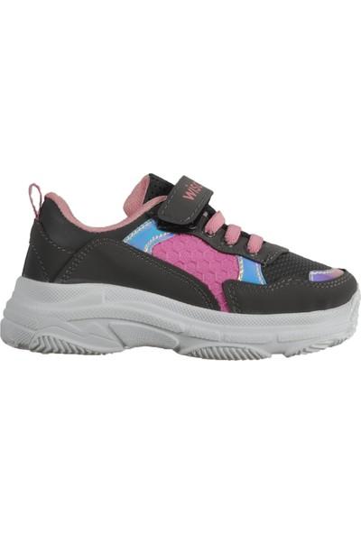 Wisco 019 Füme-Pembe Çocuk Spor Ayakkabı
