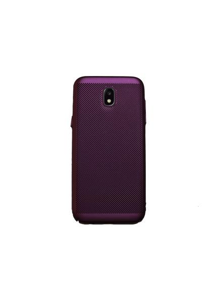 Markaavm Samsung Galaxy J5 Pro Fileli Rubber Kılıf - Mürdüm