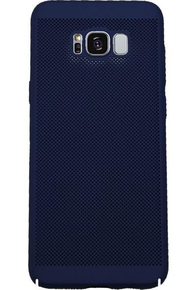 Markaavm Samsung Galaxy S8+ Fileli Rubber Kılıf - Lacivert