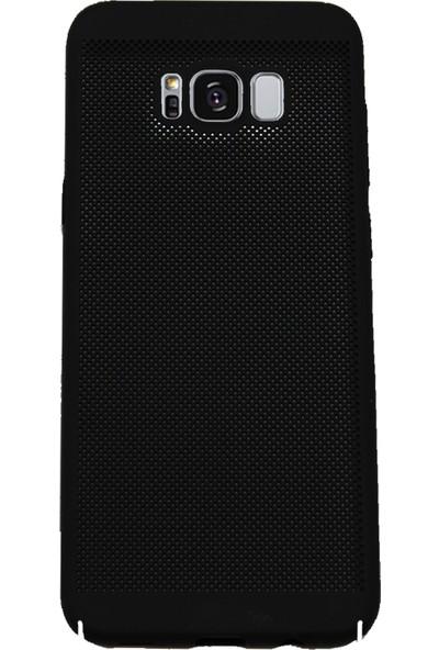 Markaavm Samsung Galaxy S8+ Fileli Rubber Kılıf - Siyah